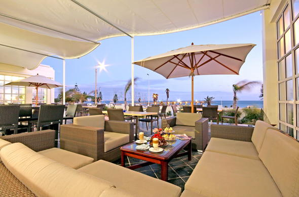An afternoon tea can be enjoyed on the veranda of the Beach Hotel.