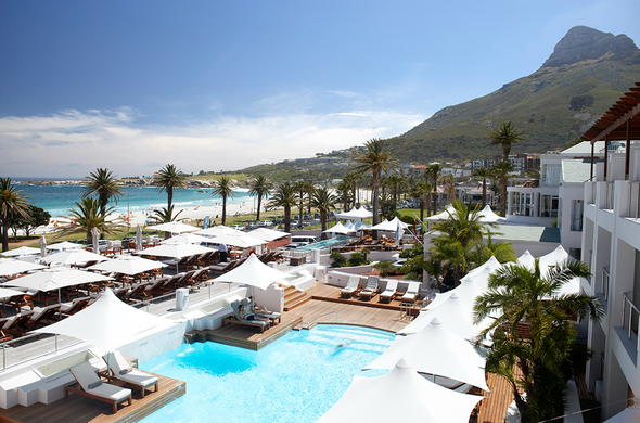 The Bay Hotel is located on Camps Bay beach front.