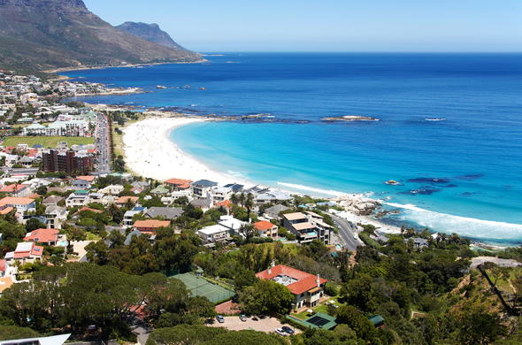 Aerial view of Camps Bay.