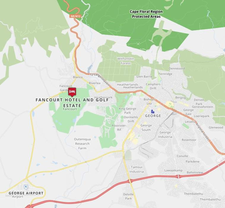 Fancourt South Africa Map Map for Fancourt Hotel & Golf Estate   5 Star George Luxury Hotel