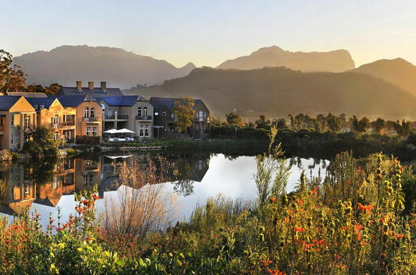L'Ermitage Franschhoek is located on the Fransche Hoek Wine an Olive Estate.