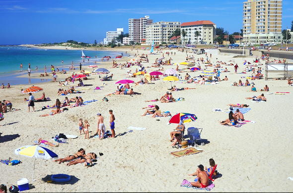 The busy beaches during a summer in Port Elizabeth.