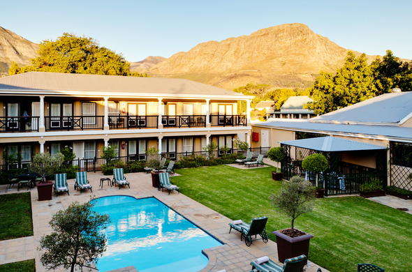 Relax at the Protea Hotel Franschhoek pool side on the sunny days.