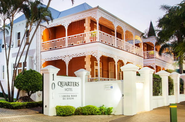 Exterior view of the Quarters Hotel Florida Road.