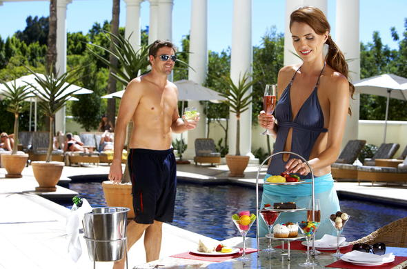 Enjoy delicious snacks poolside at Southern Sun The Cullinan.